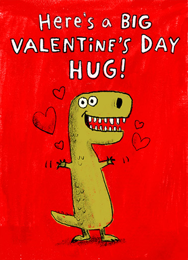 TRex Hug  Card Cover