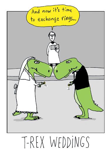 TRex Weddings Wedding Card Cover
