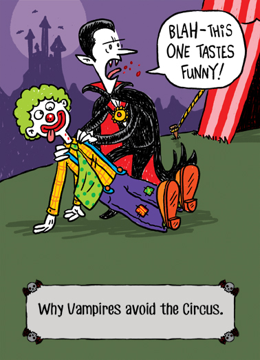Tastes Funny Halloween Card Cover