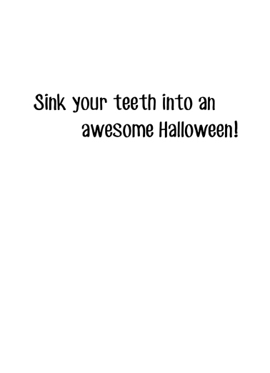Tastes Funny Halloween Card Inside