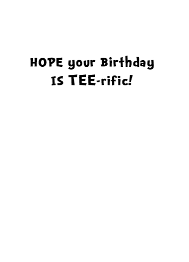 Tee Rex Bday  Card Inside