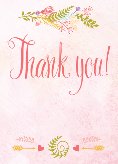 Thank You Thank You Card Cover