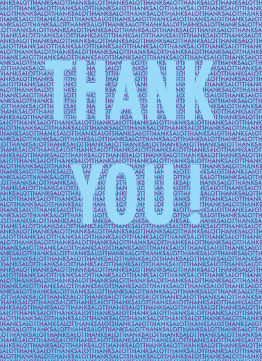 Thanks A Lot Thank You Card Cover