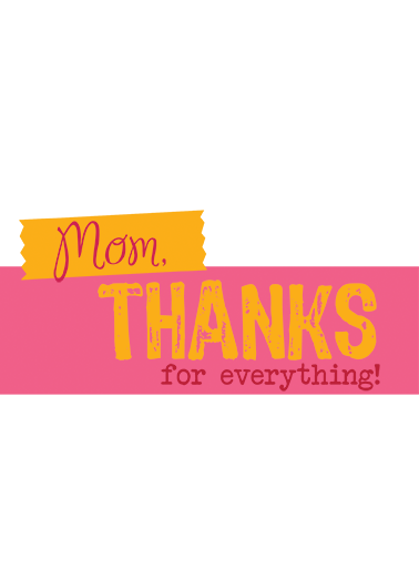 Thanks for Everything MD Megan Card Cover