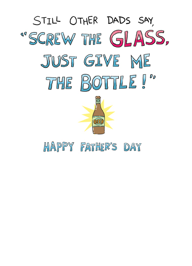 The Glass Father's Day Card Inside