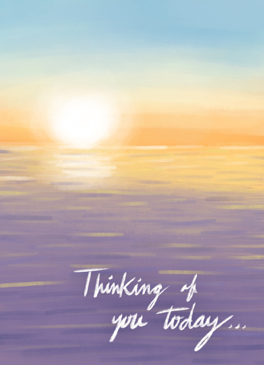 Thinking of you Sunset Miss You Ecard Cover
