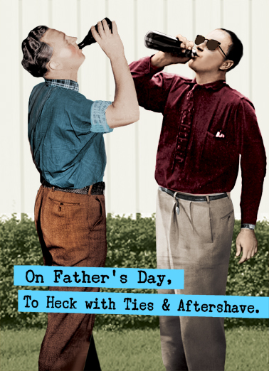 To Heck With Ties Vintage Ecard Cover