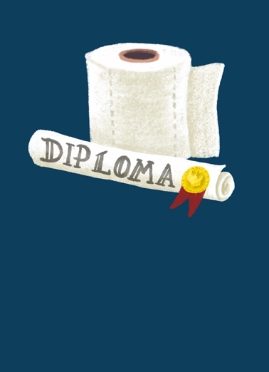 Toilet Paper Grad Graduation Card Cover