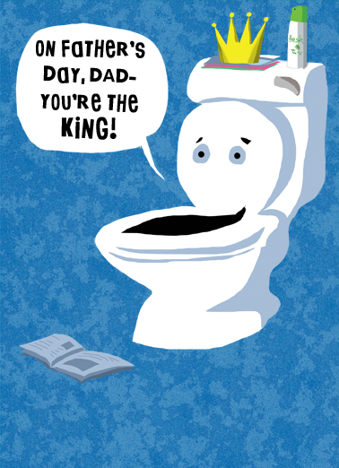 Toilet Sit Father's Day Card Cover