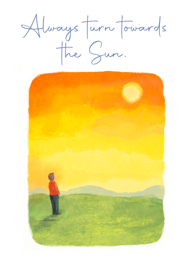 Towards Sun One from the Heart Ecard Cover