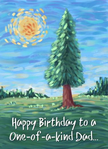 Tree Dad Bday Birthday Card Cover