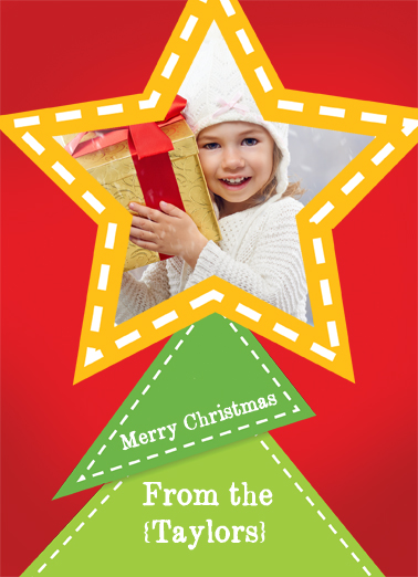 Tree Topper Christmas Card Cover