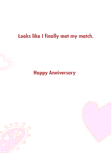 True Love Is Anniversary Anniversary Card Inside
