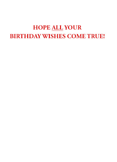 Trump 2020 Scary Birthday Card Inside
