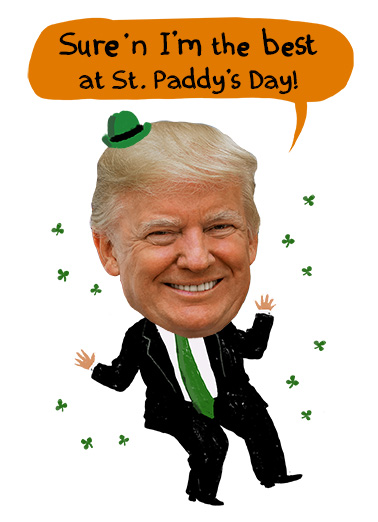 Trump Blarney St. Patrick's Day Card Cover