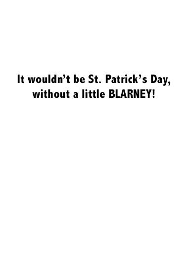 Trump Blarney St. Patrick's Day Card Inside