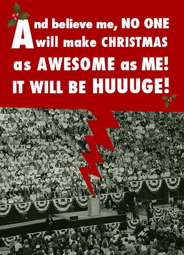 Trump Christmas Huge Christmas Card Cover