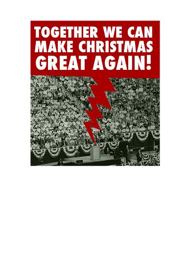 Trump Christmas Huge Christmas Card Inside
