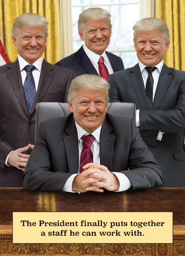 Trump Clones Birthday Card Cover