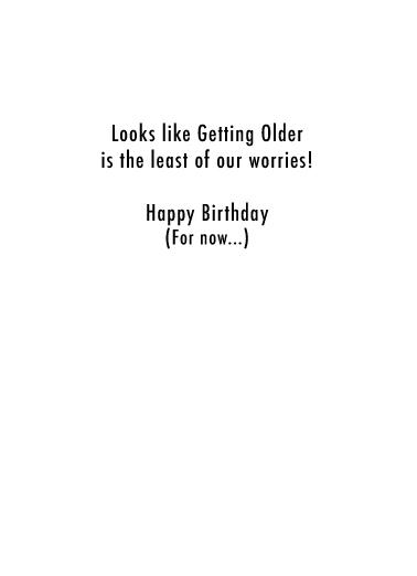 Trump Golf 2024 Birthday Card Inside