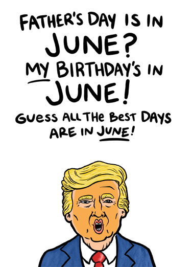 Trump June FD Father's Day Card Cover