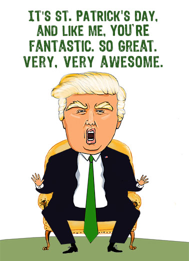 Trump Like Me StP St. Patrick's Day Card Cover