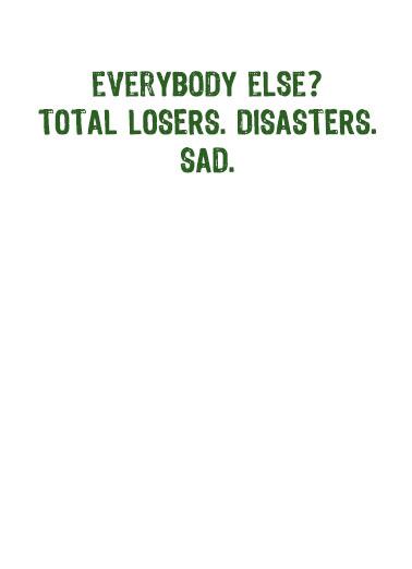 Trump Like Me StP St. Patrick's Day Card Inside