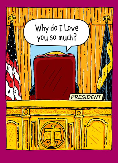 Trump Oval Office (Love) For Any Time Ecard Cover