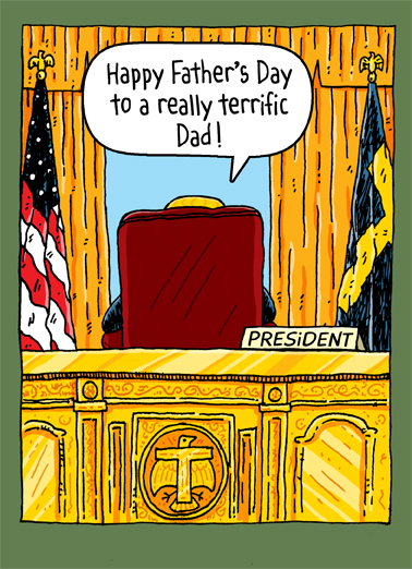 Trump Oval Office Dad Funny Political Ecard Cover