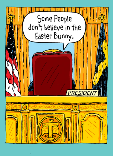 Trump Oval Office Easter President Donald Trump Ecard Cover