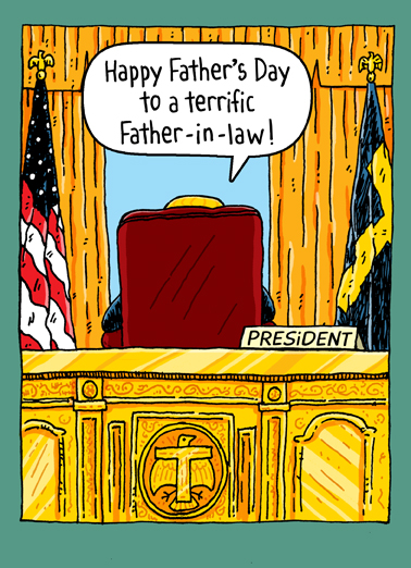 Trump Oval Office FIL Father's Day Card Cover