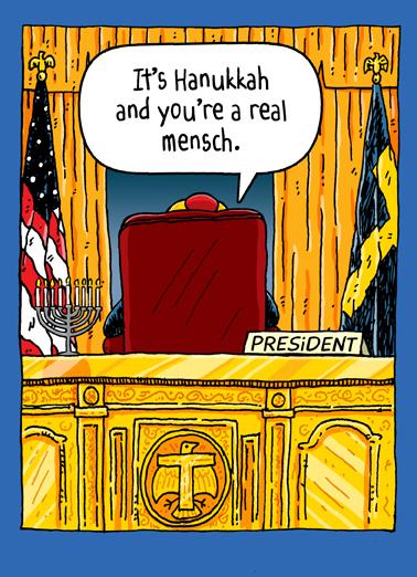 Trump Oval Office Han Hanukkah Card Cover