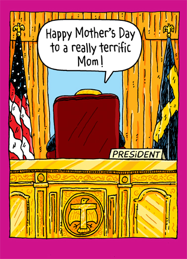 Trump Oval Office Mom Mother's Day Ecard Cover