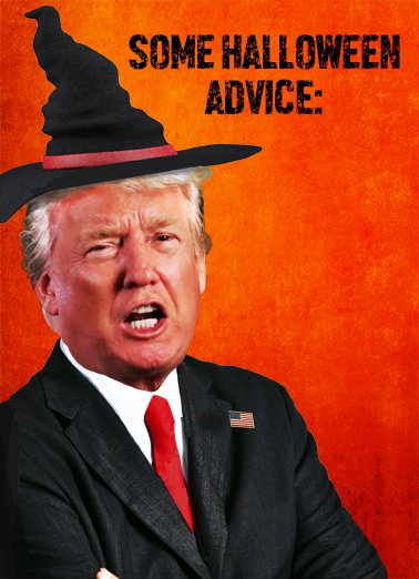 Trump Witch Hunt Halloween Card Cover