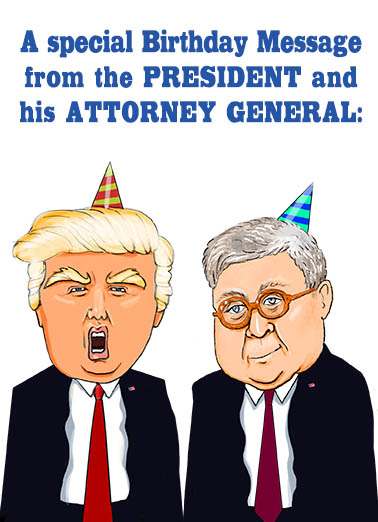 Trump and Barr Hillary Clinton Card Cover