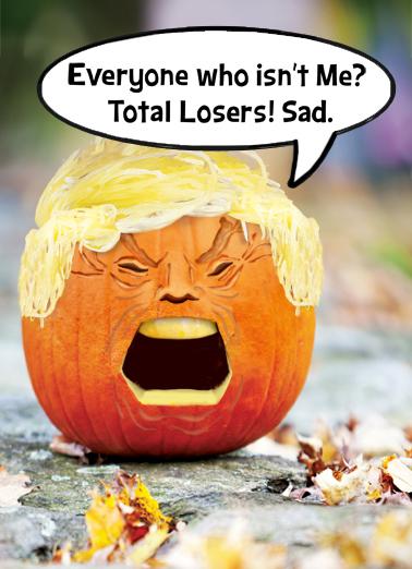 Trumpkin Halloween Card Cover