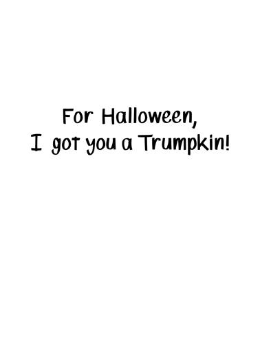 Trumpkin Halloween Card Inside