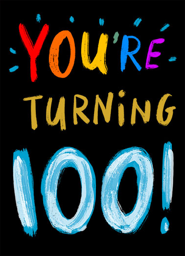 Turning 100  Card Cover