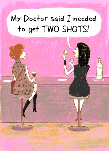 Two Shots for Mom Mother's Day Ecard Cover