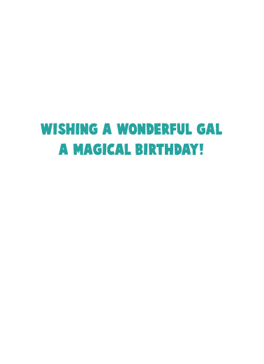 Unicorn Birthday One from the Heart Card Inside