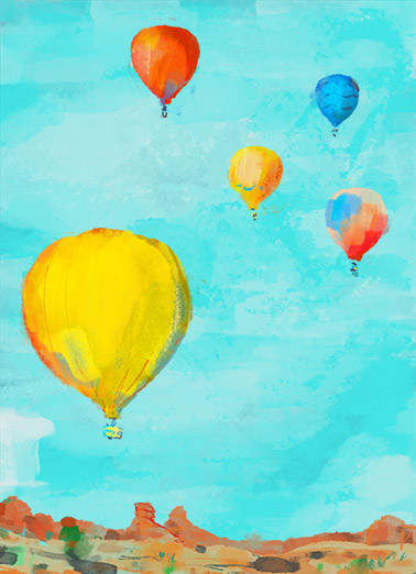 Uplifting Balloons One from the Heart Ecard Cover