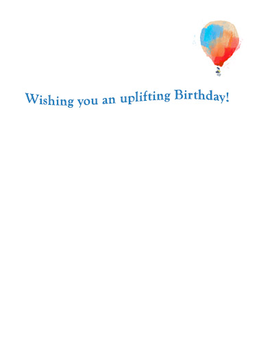 Uplifting Balloons One from the Heart Ecard Inside