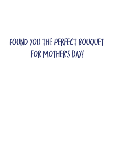 Vaccine Bouquet Mom Mother's Day Ecard Inside