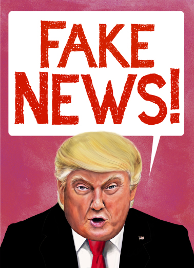 Val Fake News Valentine's Day Ecard Cover