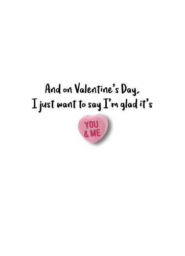 Valentine Candy Hearts Valentine's Day Card Inside