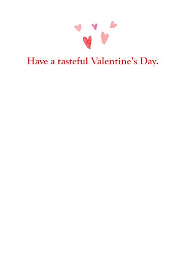 Valentine Lost Taste Valentine's Day Card Inside