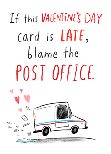 Valentine Post Office Valentine's Day Card Cover