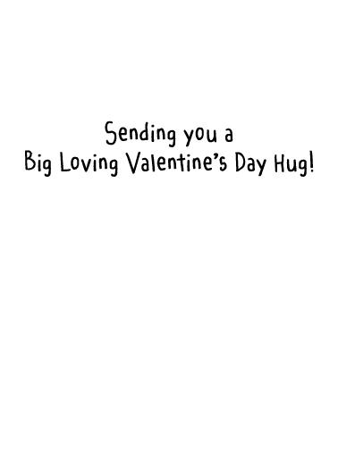 Valentine's Day Hug Valentine's Day Card Inside