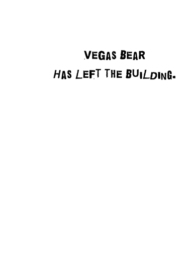 Vegas Bear Thank You Card Inside