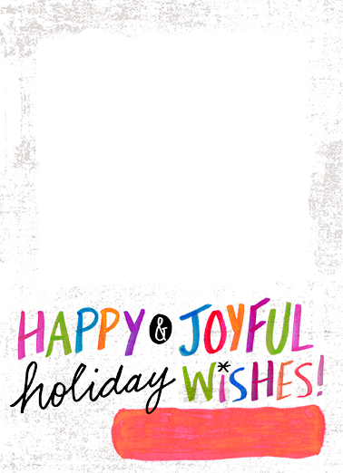 Vertical Bright Wishes Christmas Card Cover
